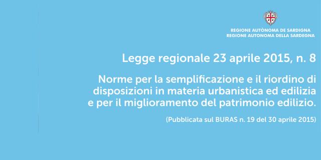 Legge Regionale n.8 del 23 aprile 2015