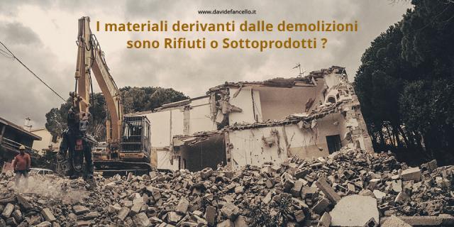 I materiali derivanti dalle demolizioni