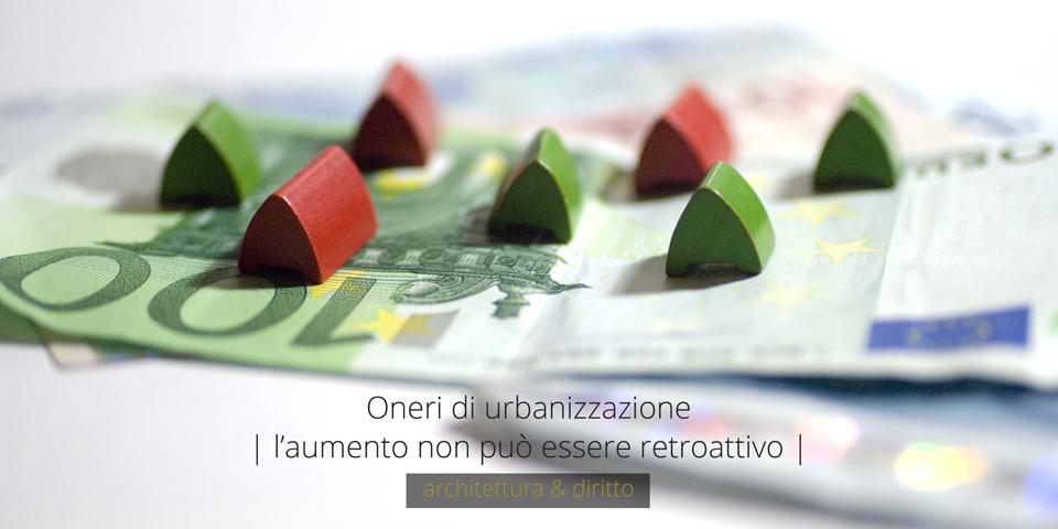 oneri urbanizzazione - architettura & diritto - davide fancello - ingegnere architetto